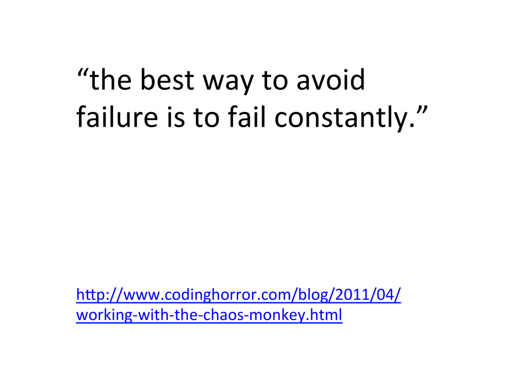 """""""the best way to avoid  failure..."""