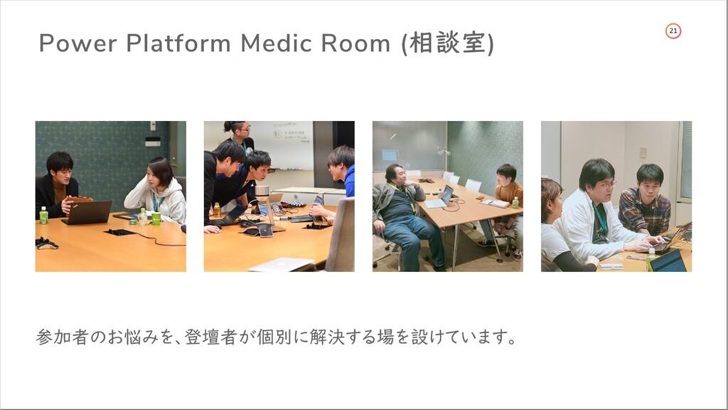 14 Power Platform Medic Room (相談室) 参加者のお悩みを、登壇者...