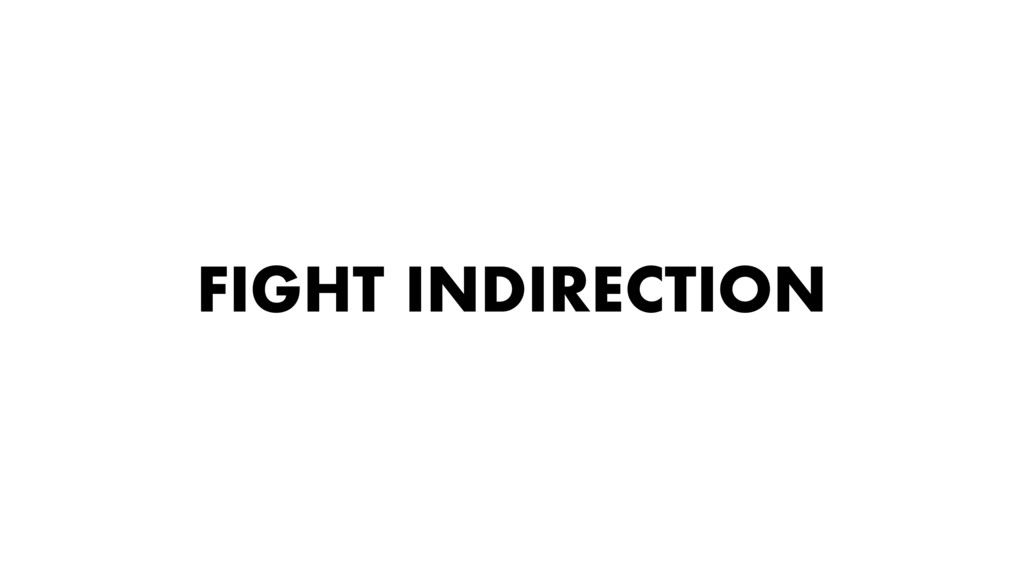 FIGHT INDIRECTION