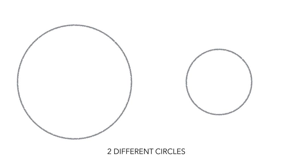 2 DIFFERENT CIRCLES
