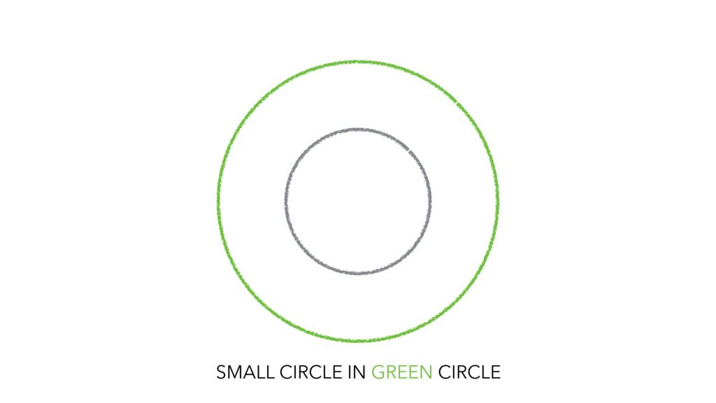 SMALL CIRCLE IN GREEN CIRCLE