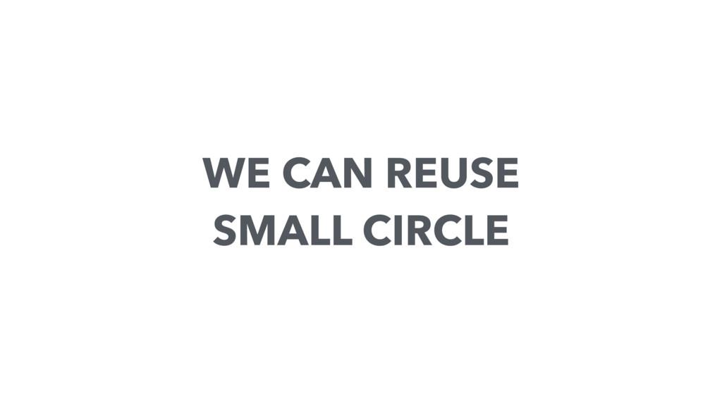 WE CAN REUSE SMALL CIRCLE