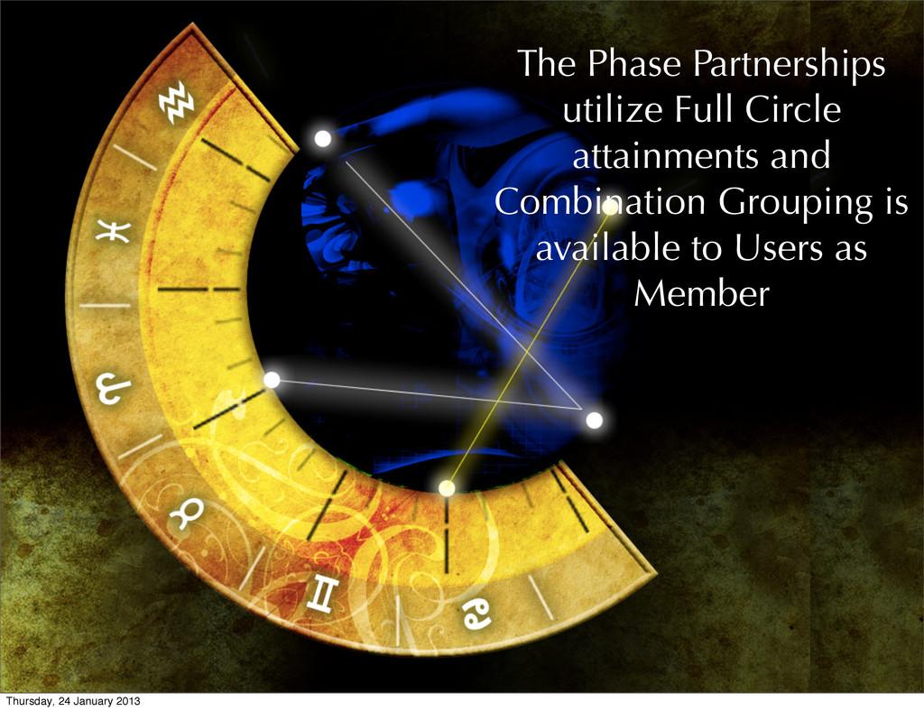 The Phase Partnerships utilize Full Circle atta...