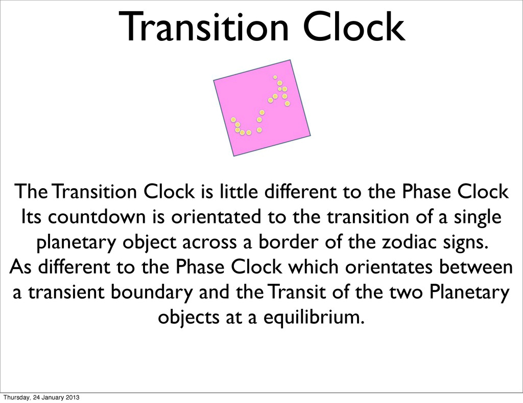Transition Clock The Transition Clock is little...