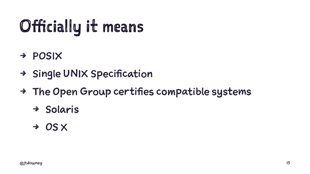 Officially it means 4 POSIX 4 Single UNIX Speci...