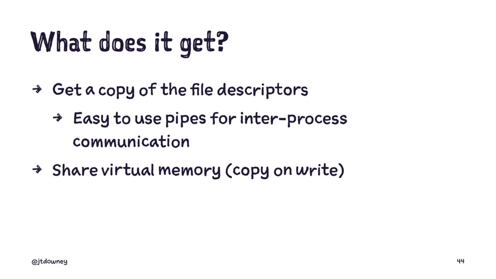 What does it get? 4 Get a copy of the file desc...