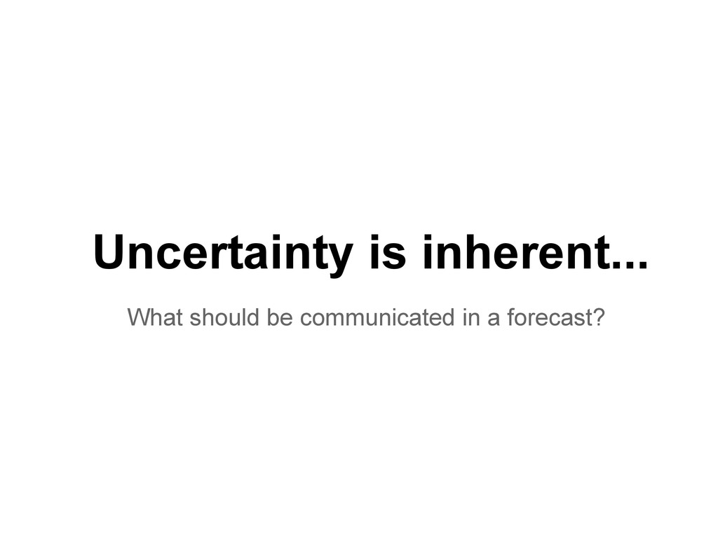 Uncertainty is inherent... What should be commu...