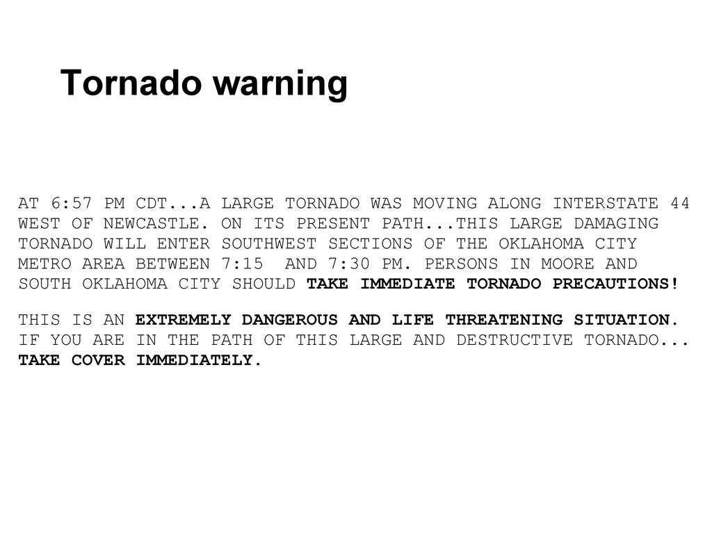 AT 6:57 PM CDT...A LARGE TORNADO WAS MOVING ALO...