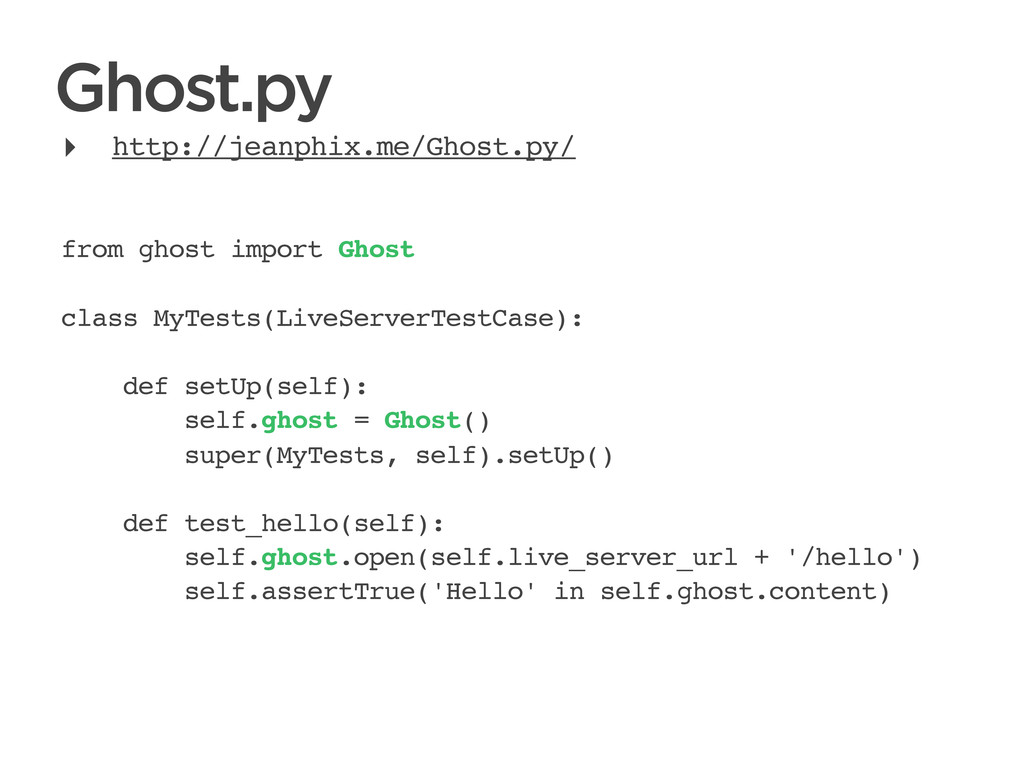 CONNECTED PERSONAL OBJECTS 5/2012 Ghost.py from...