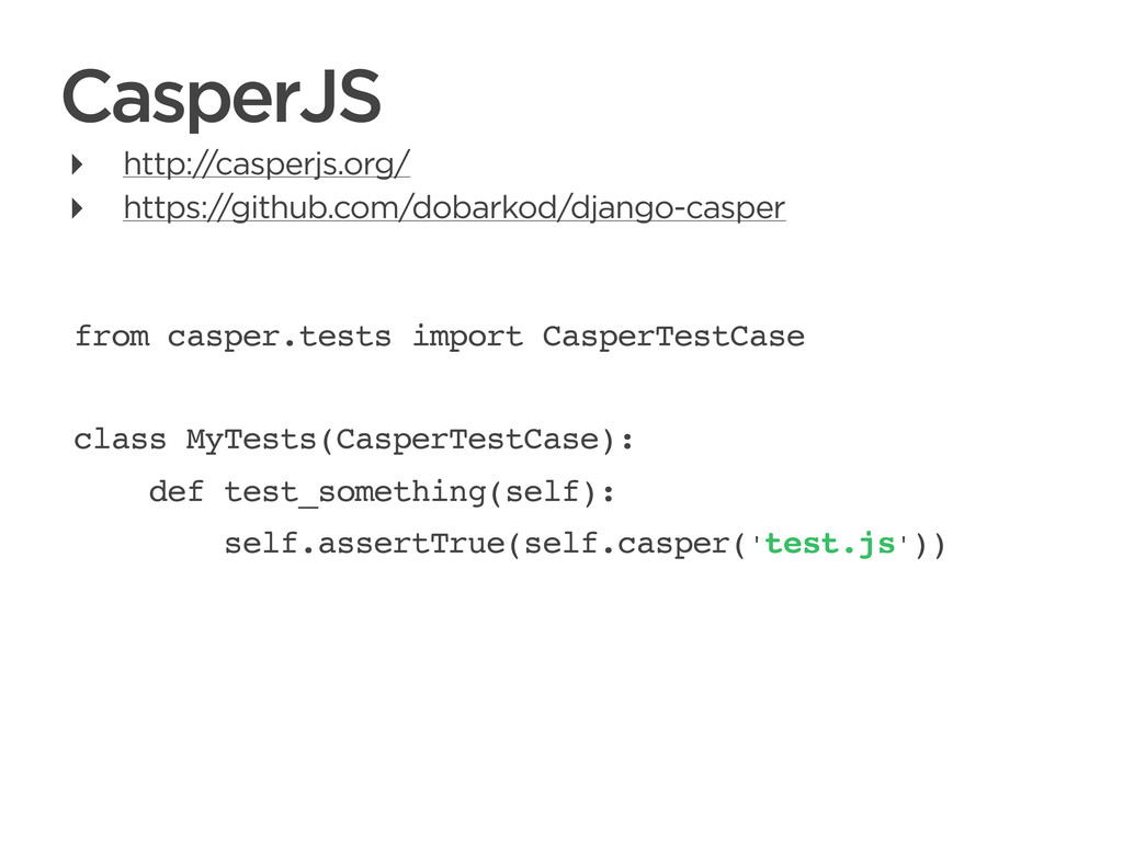 CONNECTED PERSONAL OBJECTS 5/2012 CasperJS from...