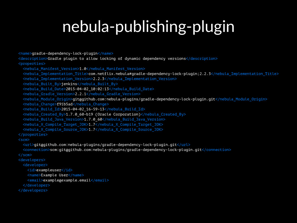 nebula'publishing'plugin <name>gradle-dependenc...