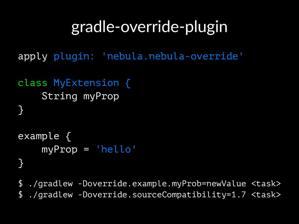 gradle'override'plugin apply plugin: 'nebula.ne...