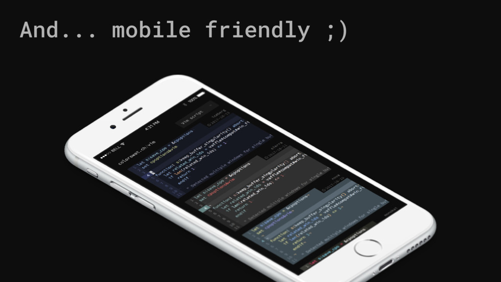And... mobile friendly ;)