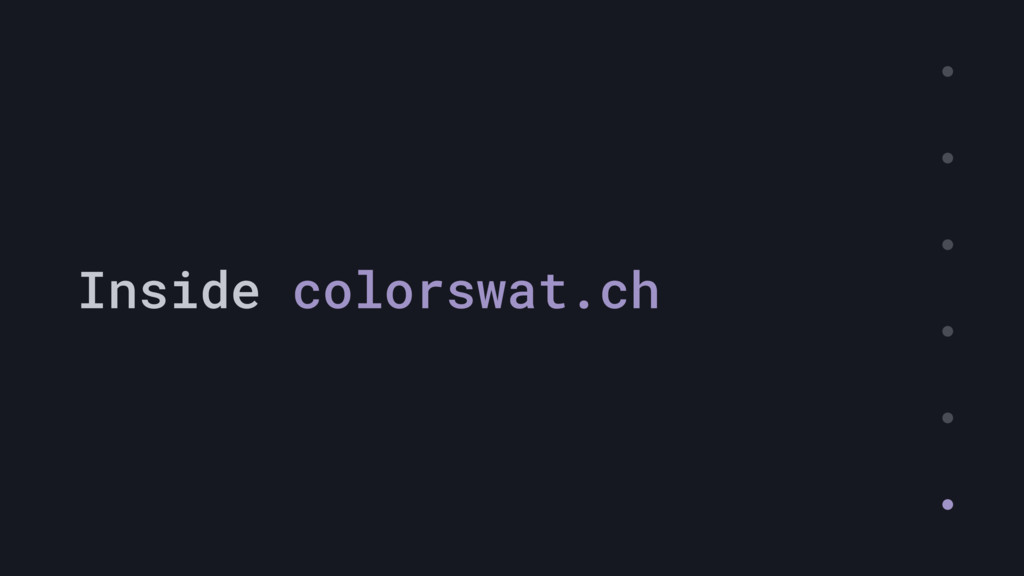 Inside colorswat.ch