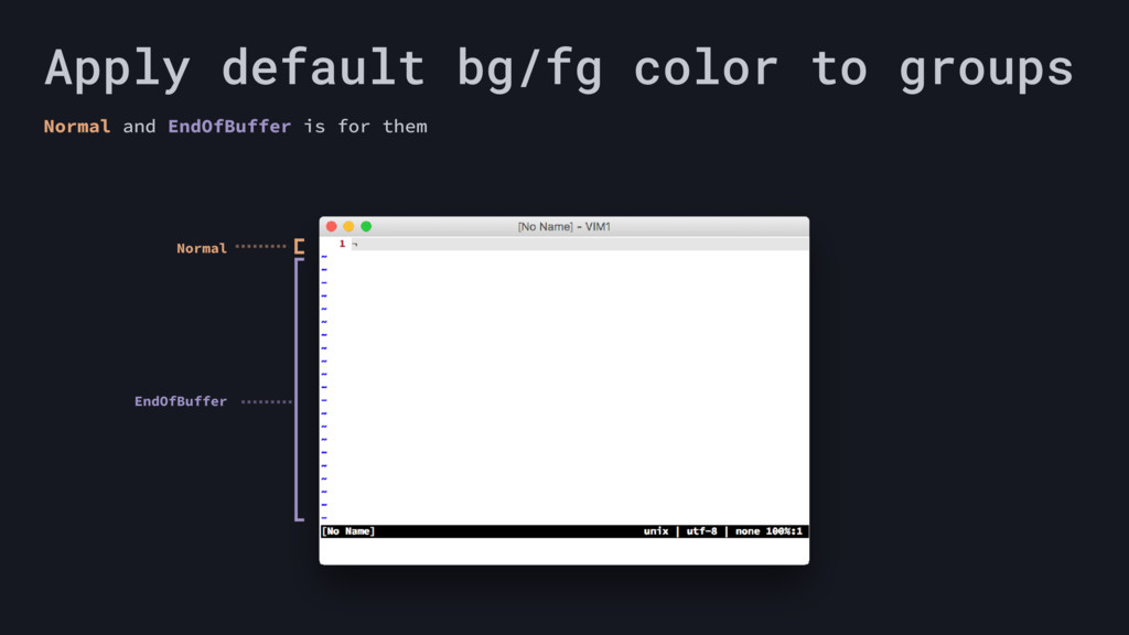 Apply default bg/fg color to groups Normal and ...
