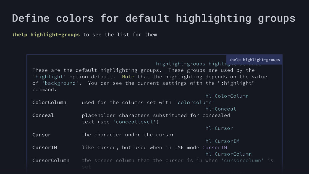 highlight-groups highlight-default These are th...