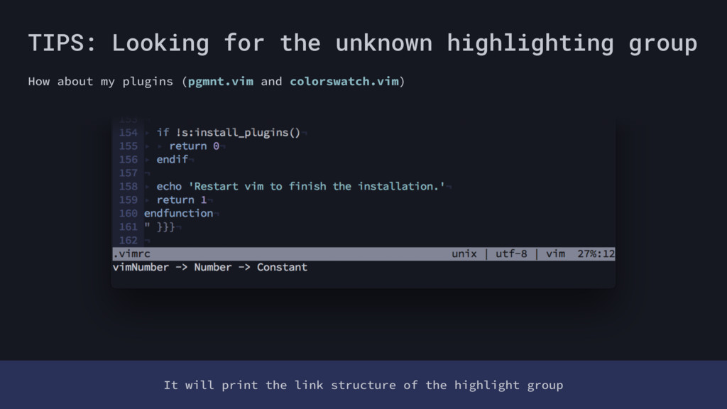 TIPS: Looking for the unknown highlighting grou...