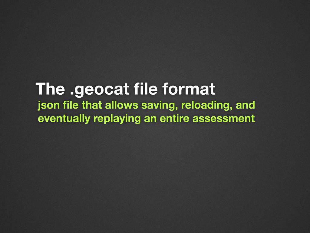 The .geocat file format json file that allows sav...