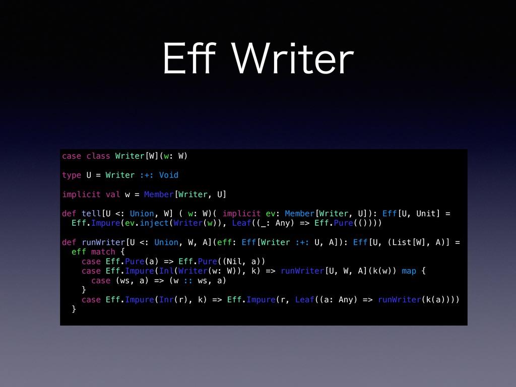 &⒎8SJUFS case class Writer[W](w: W) type U = W...