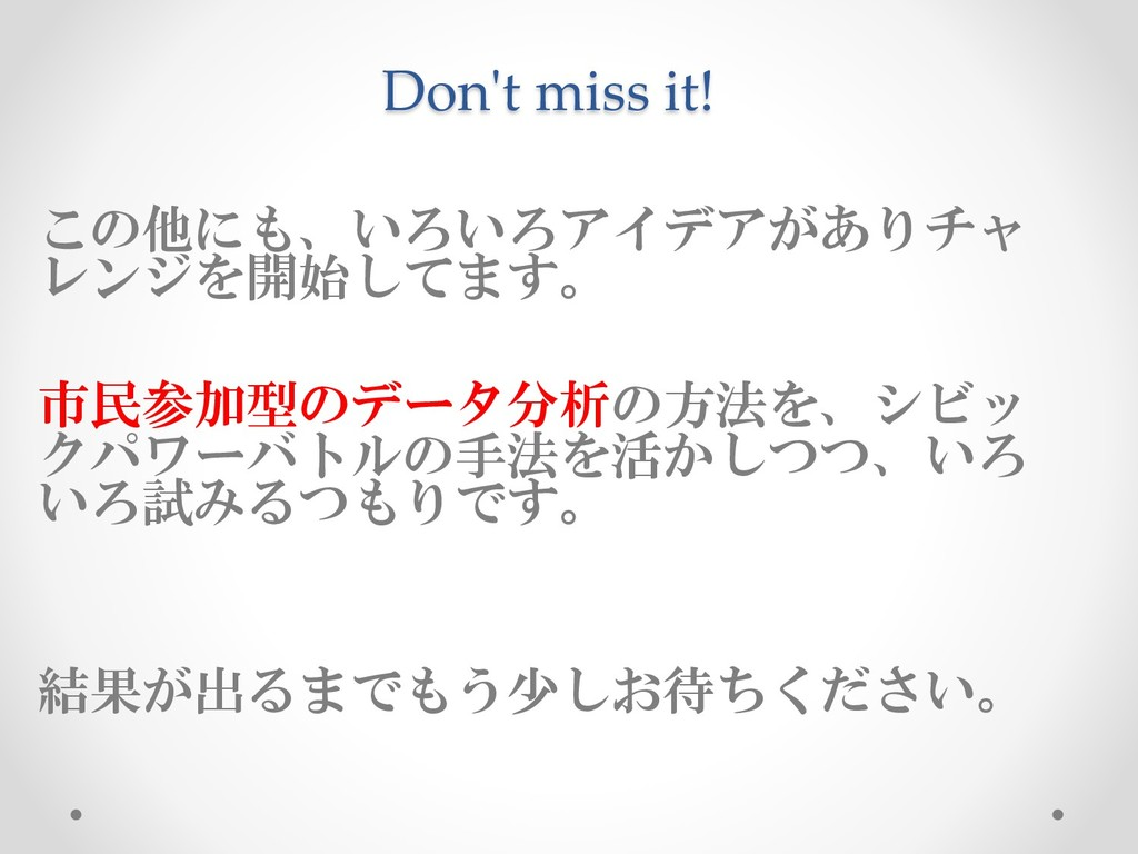 Don't miss it! ('+..0180,6= ?A4/ %)! ...