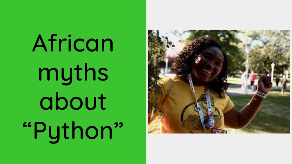 """African myths about """"Python"""""""
