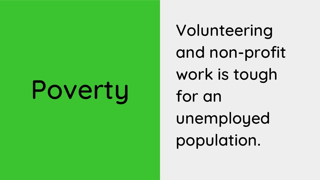 Poverty Volunteering and non-profit work is tou...