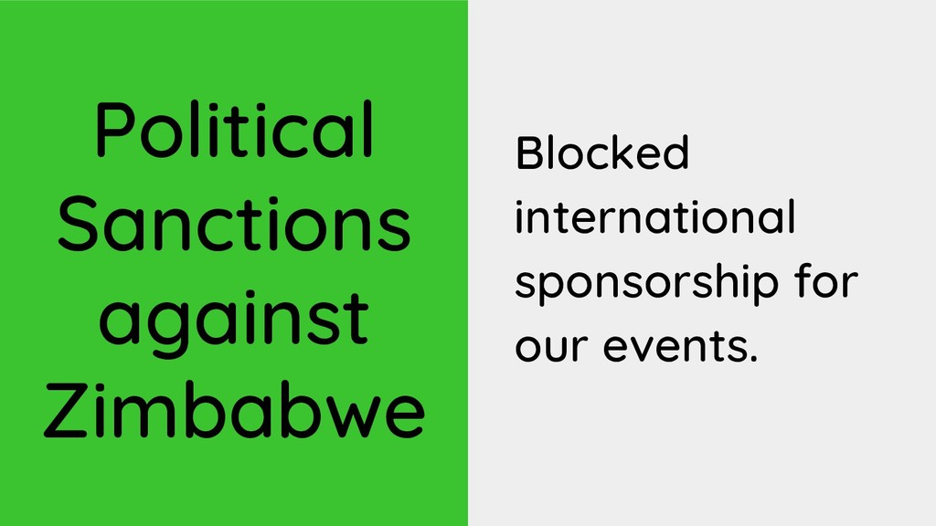 Political Sanctions against Zimbabwe Blocked in...