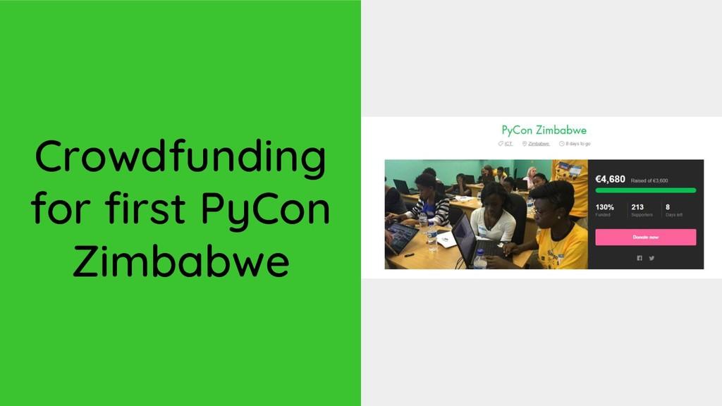 Crowdfunding for first PyCon Zimbabwe