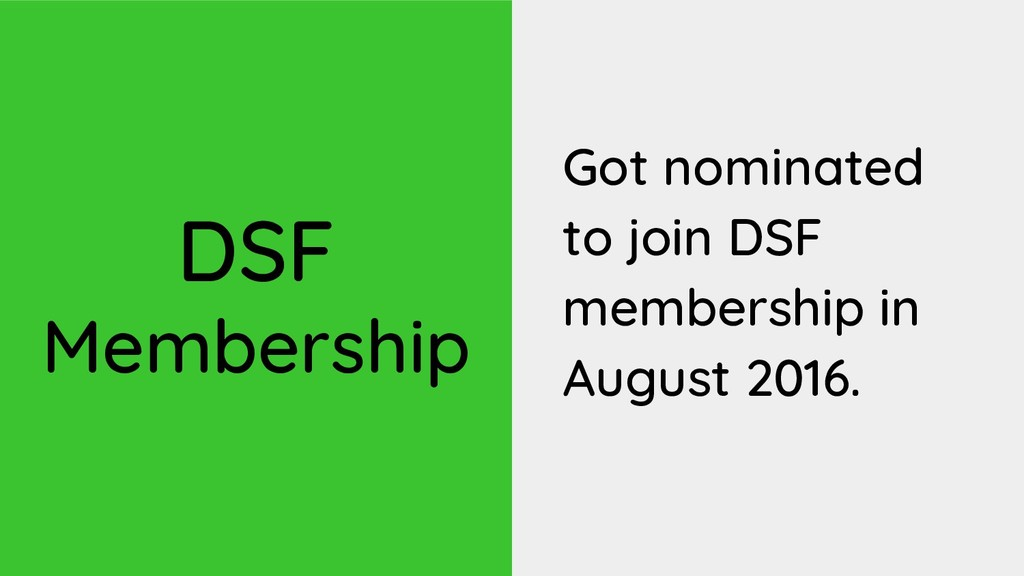 DSF Membership Got nominated to join DSF member...