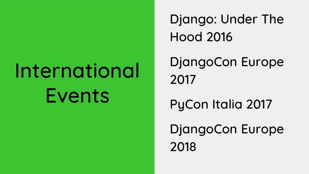 International Events Django: Under The Hood 201...