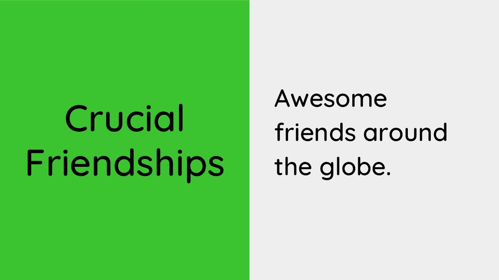 Crucial Friendships Awesome friends around the ...