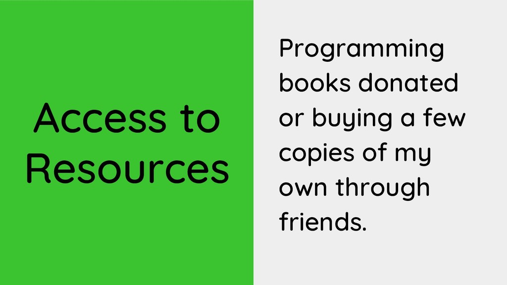Access to Resources Programming books donated o...