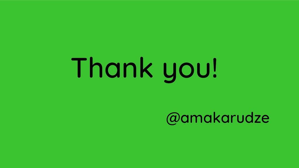 Thank you! @amakarudze