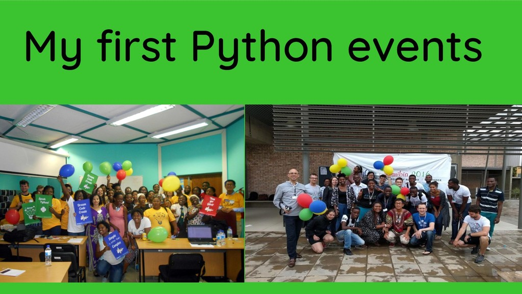 My first Python events