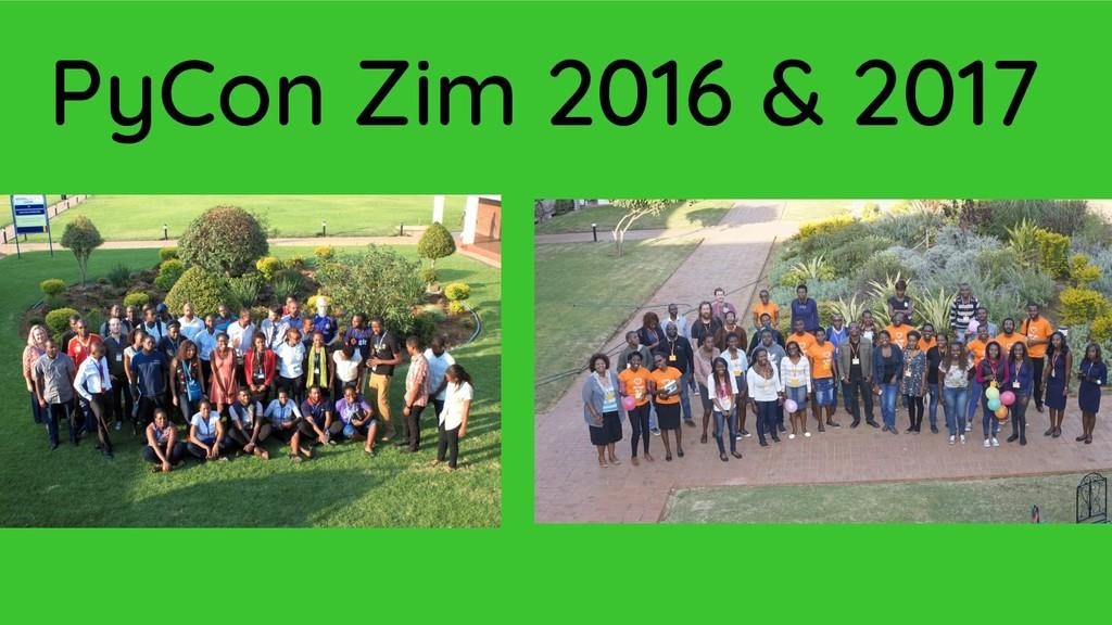 PyCon Zim 2016 & 2017