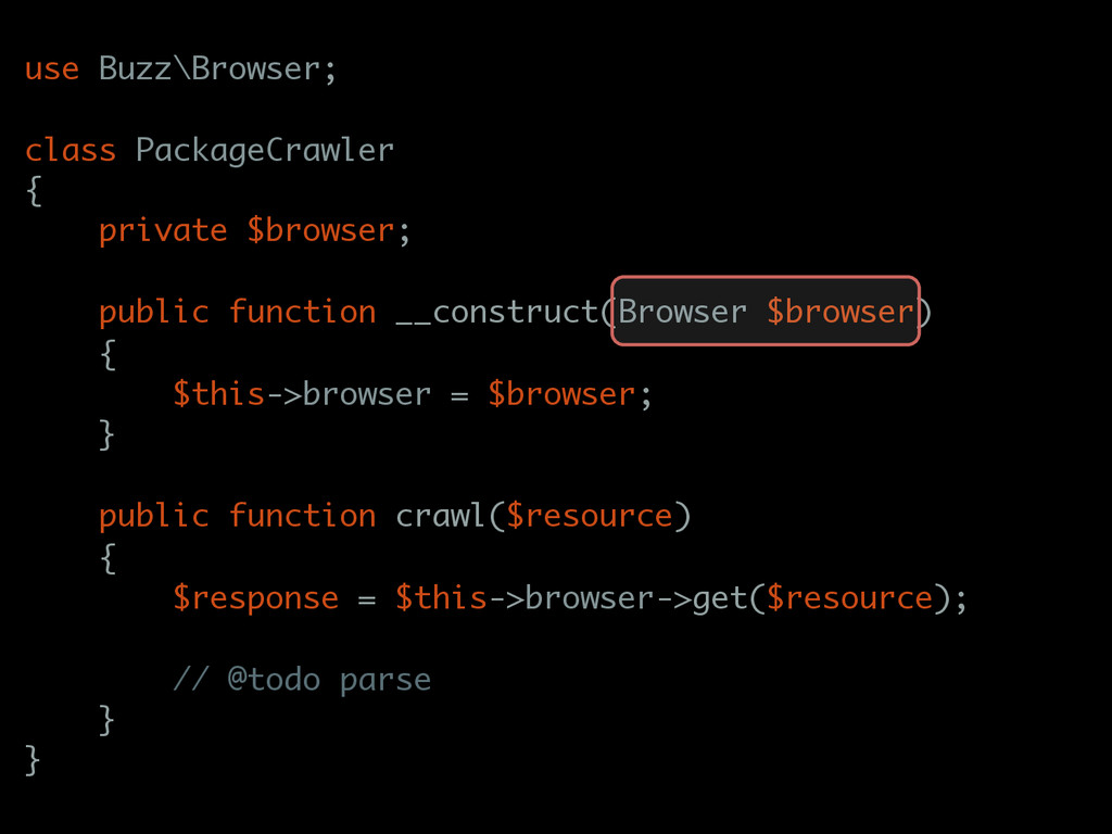 use Buzz\Browser; class PackageCrawler { privat...