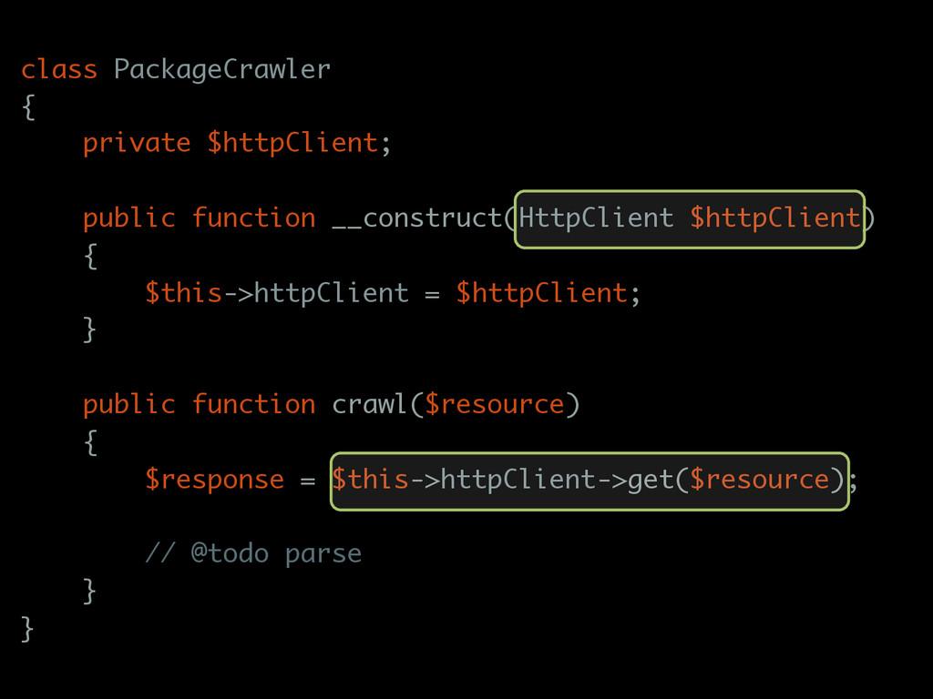 class PackageCrawler { private $httpClient; pub...