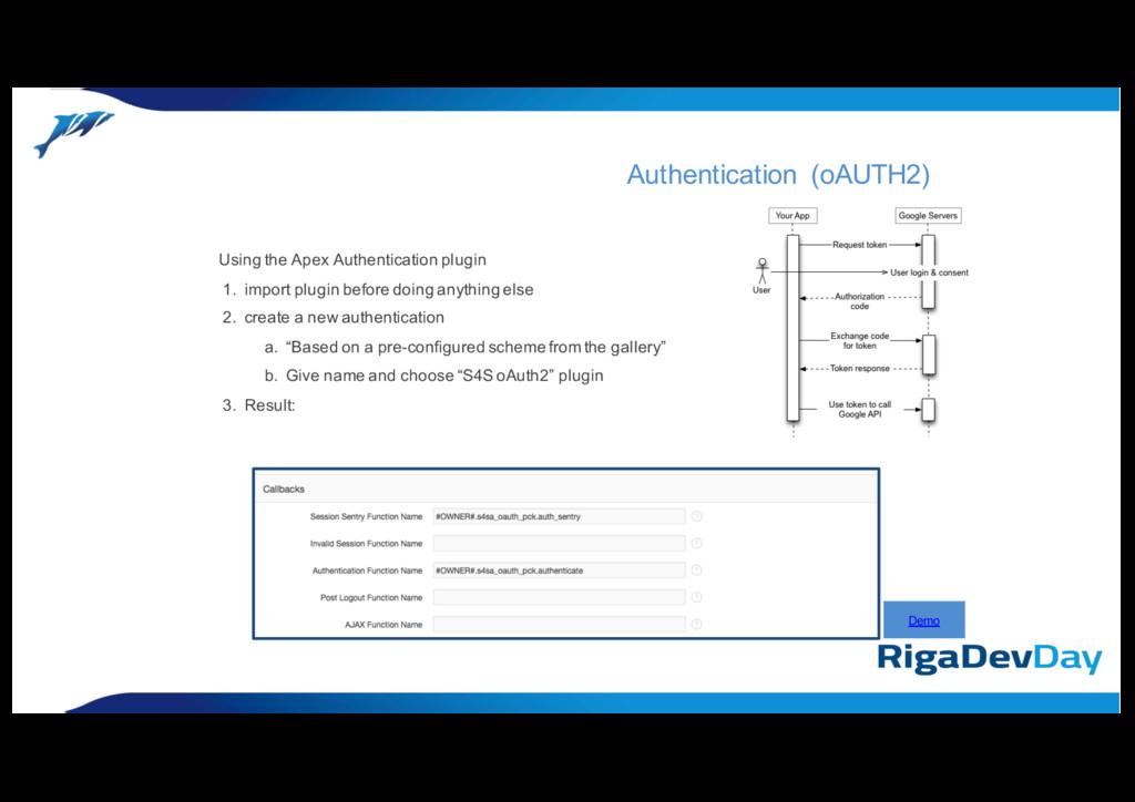 Using the Apex Authentication plugin 1. import ...