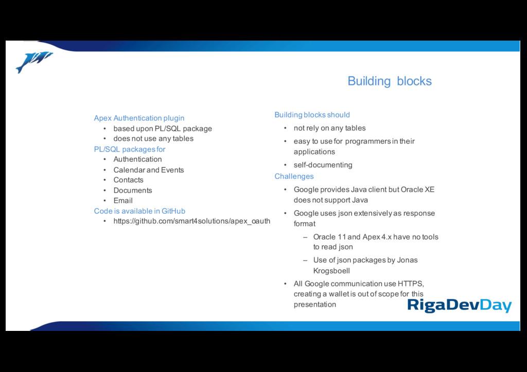 Apex Authentication plugin • based upon PL/SQL ...