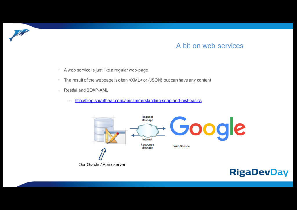 • A web service is just like a regular web-page...