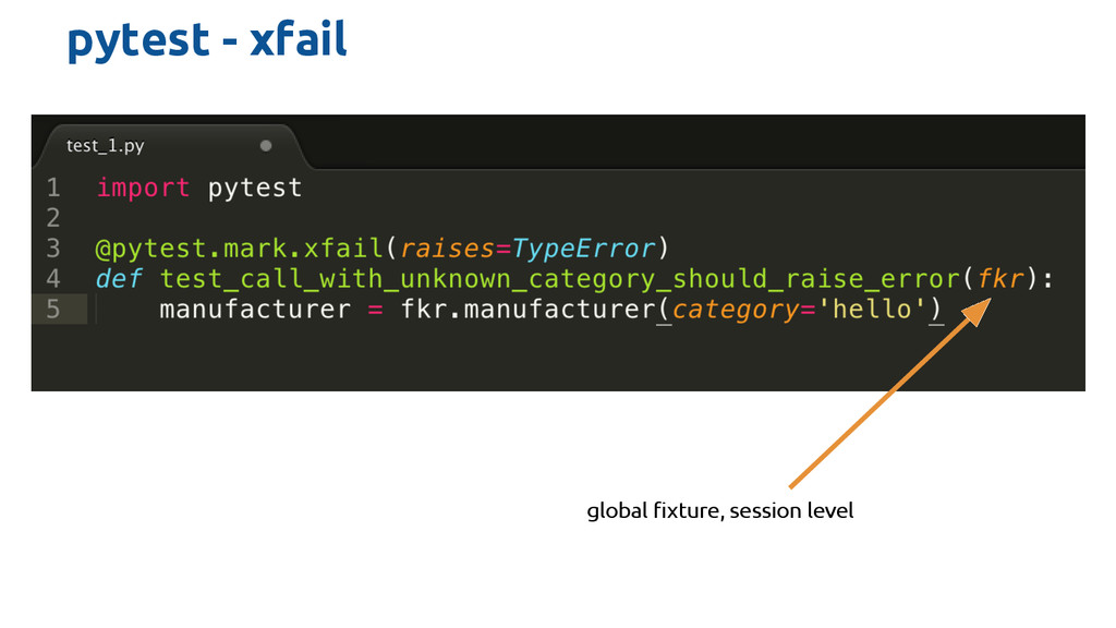 pytest - xfail global fixture, session level