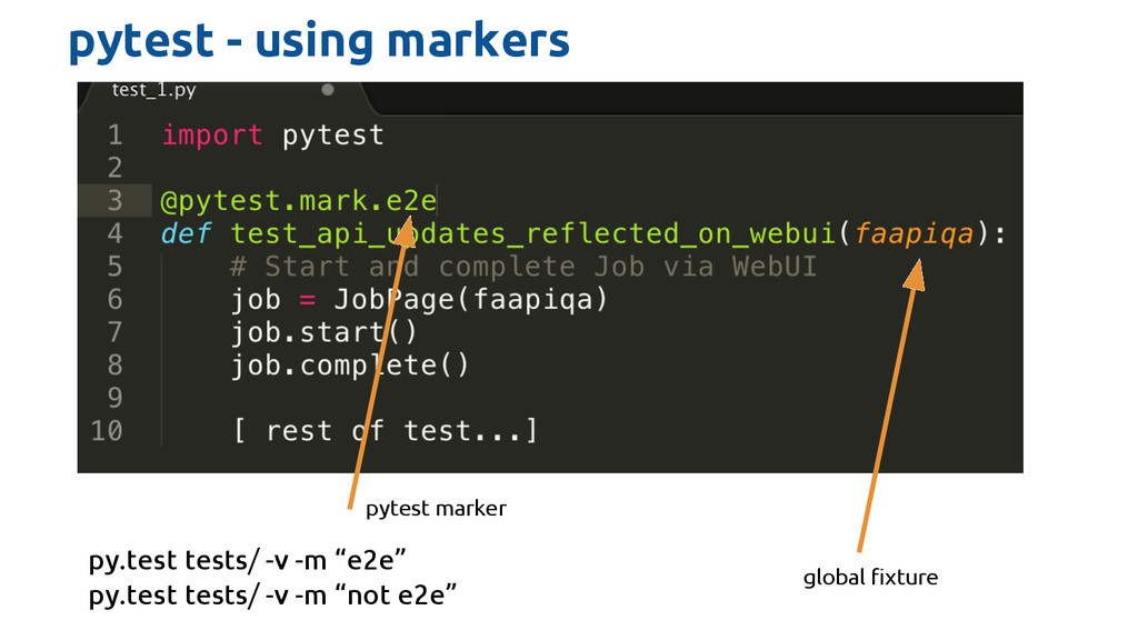 pytest - using markers global fixture pytest ma...