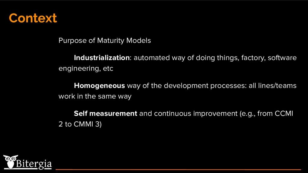 Context Purpose of Maturity Models Industrializ...