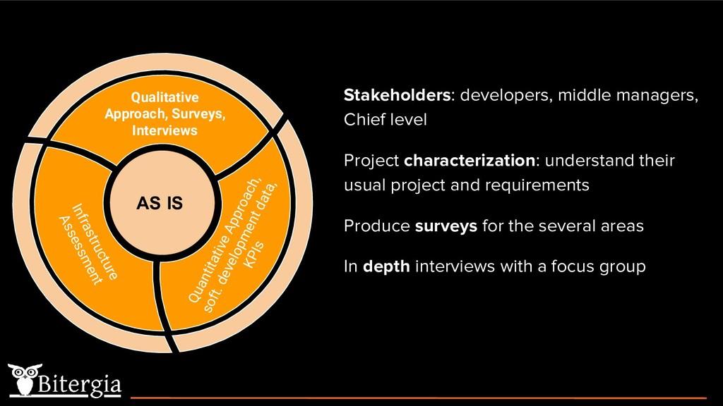 Quantitative Approach, soft. development data, ...
