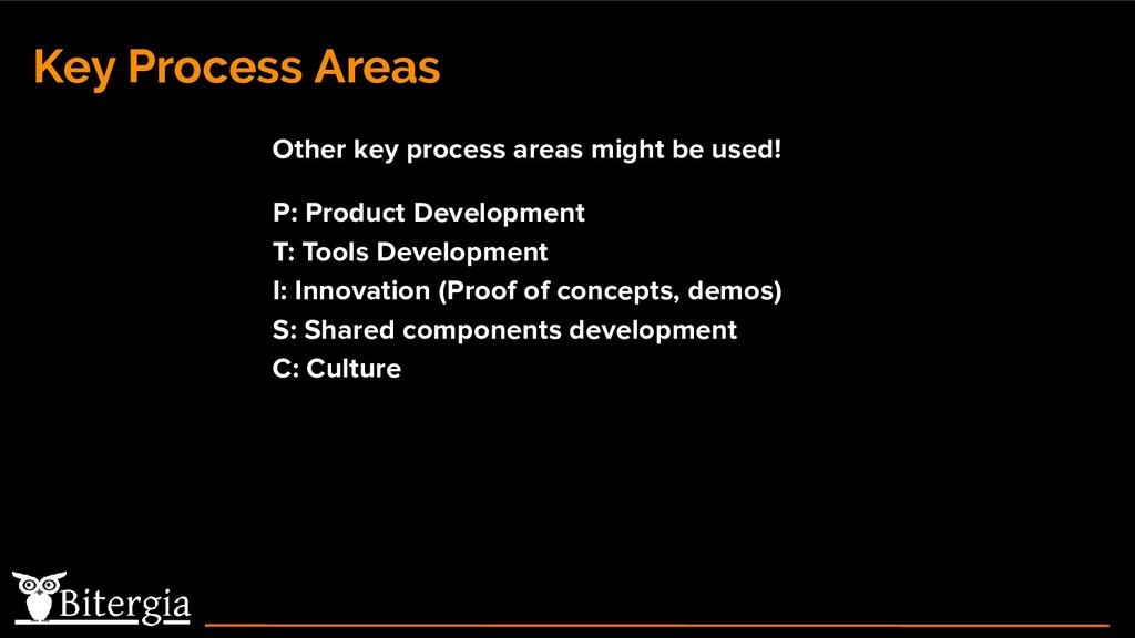Key Process Areas Other key process areas might...