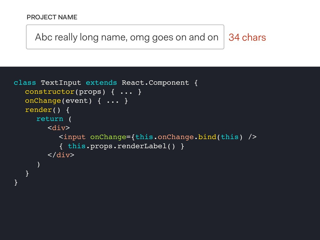0 chars PROJECT NAME Abc really long name, omg ...
