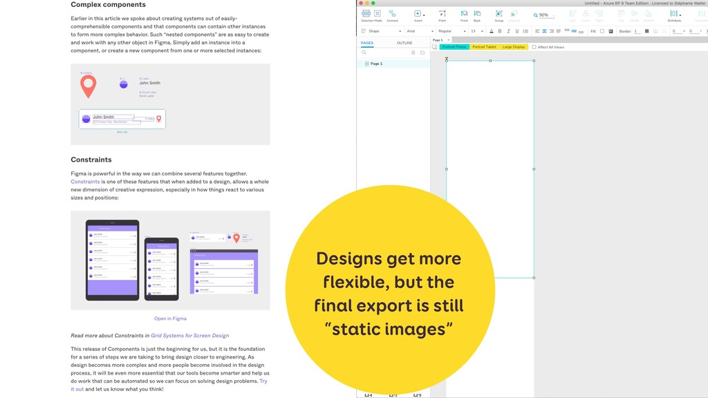 Designs get more flexible, but the final export...
