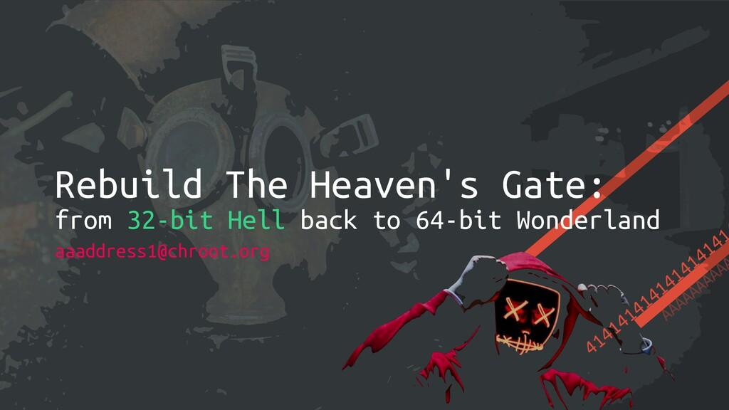 414141414141414141 AAAAAAAAAA Rebuild The Heave...