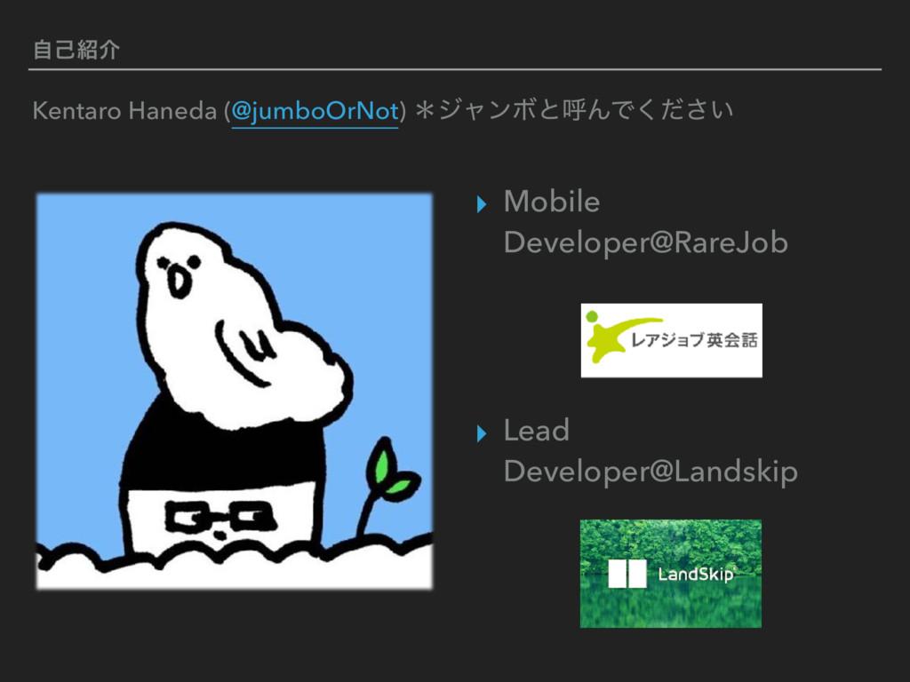 ࣗݾհ ▸ Mobile Developer@RareJob   ▸ Lead Dev...