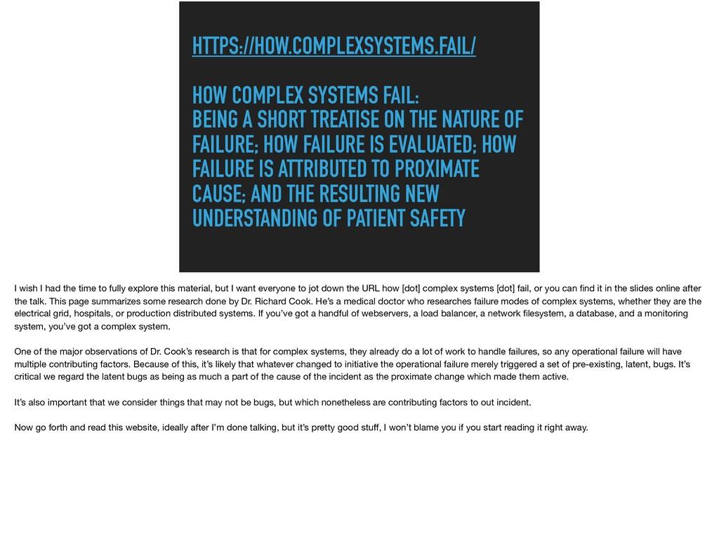 HTTPS://HOW.COMPLEXSYSTEMS.FAIL/  HOW COMPLEX...